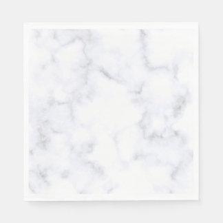 White Marble Disposable Napkins