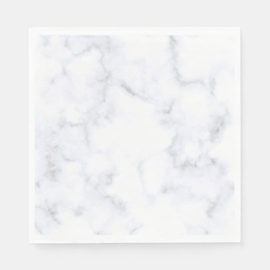 White Marble Disposable Napkins