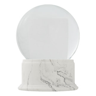 White Marble Finish Snow Globe