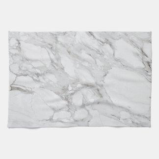 white marble kitchen towel
