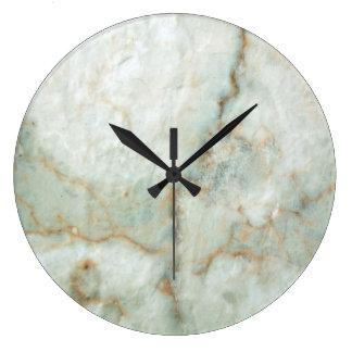 White Marble Large Clock