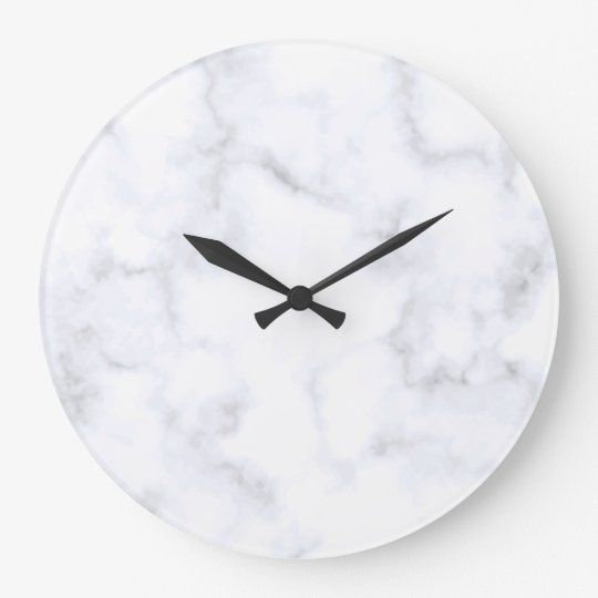 White Marble Large Clock