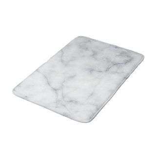 white marble look bath mat