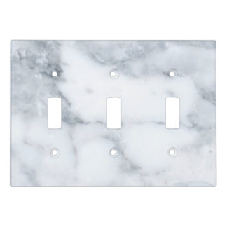 White Marble Look Light Switch Cover