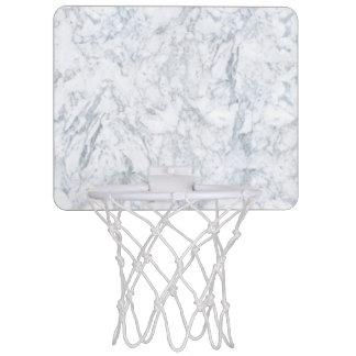 White Marble Look Mini Basketball Hoop