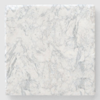 White Marble Look Stone Coaster