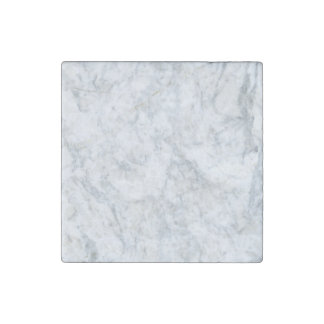 White Marble Look Stone Magnets