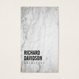 White Marble Modern and Professional Business Card