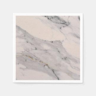 White Marble Paper Napkins