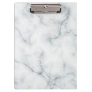 white marble pattern clipboard