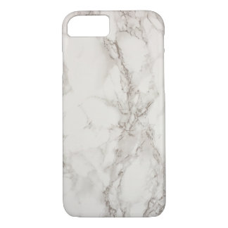 White Marble Pattern Unique Modern iPhone 8/7 Case