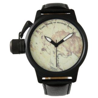 White marble pattern watch
