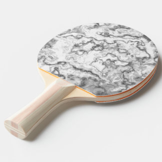 White Marble Ping Pong Paddle