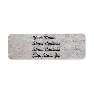 White Marble Return Address Sticker