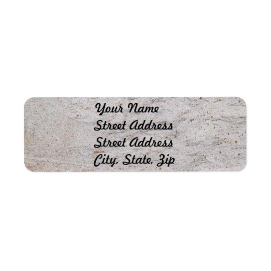 White Marble Return Address Sticker Return Address Label