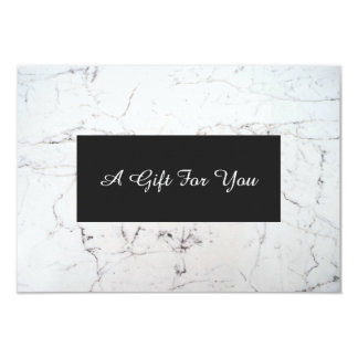 White Marble Spa and Salon Gift Certificate Card