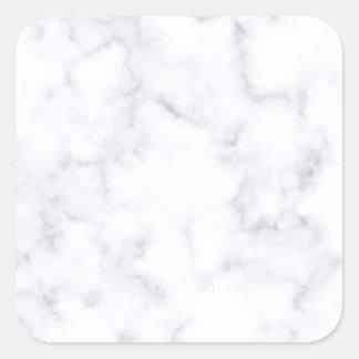 White Marble Square Sticker