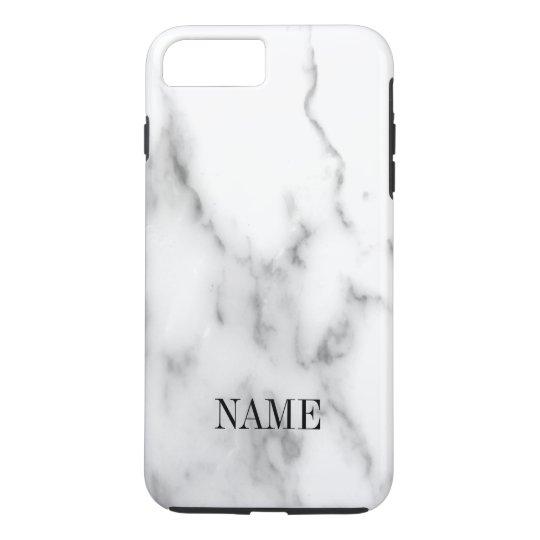 White marble stone background print iPhone 7 plus case