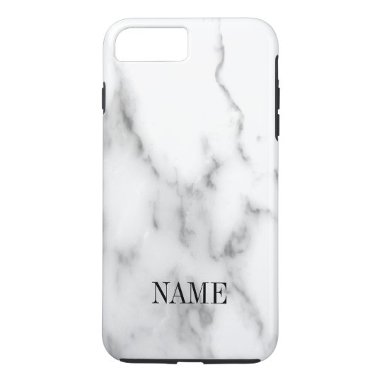 White marble stone background print iPhone 8 plus/7 plus case