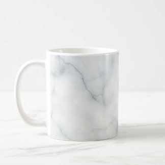 white marble stone coffee mug