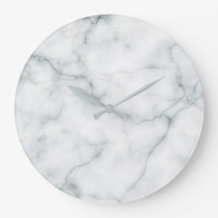 white marble stone large clock