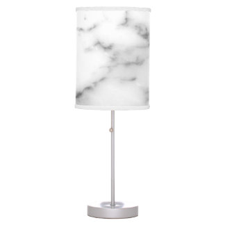 White marble stone print custom table lamp