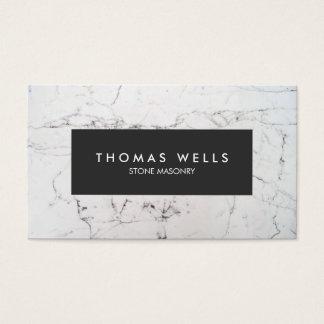 White Marble Stonemason Architect Business Card