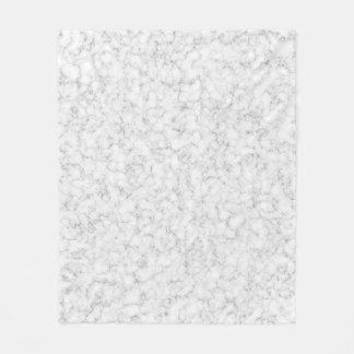 White Marble Texture Fleece Blanket