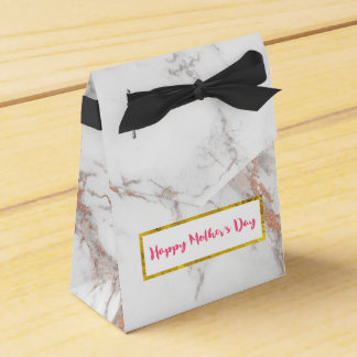 White Marble Texture Happy Mother's Day Favor Box