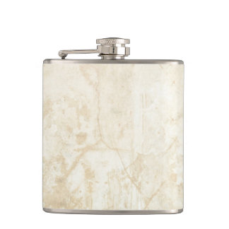 White Marble Texture Hip Flask