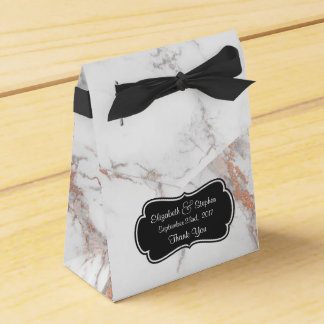 White Marble Texture Wedding Thanks Favor Box
