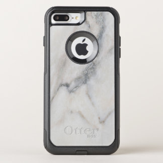 White Marble Texture With Custom Name OtterBox Commuter iPhone 8 Plus/7 Plus Case