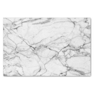 White Marble With Gray Pattern Tissue Paper