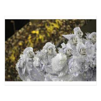 White Mardi Gras Masquerade Postcard