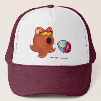 White Maroon Hotdogtopus Hotdog Hat Cap With Egg