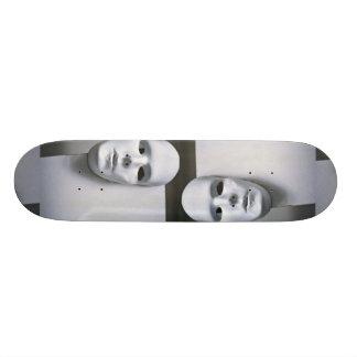 White mask skateboard decks