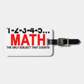 White Math Counts T-Shirts.png Luggage Tag