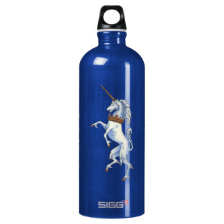 White Medieval Unicorn Water Bottle