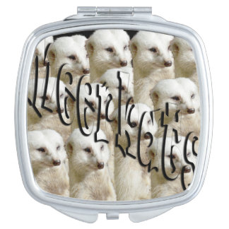 White Meerkat Army, Ladies Square Compact Mirror