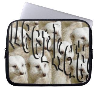 White Meerkat Army Logo, 10 inch Laptop Sleeve