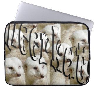 White Meerkat Army Logo, 13 inch Laptop Sleeve