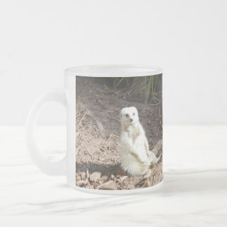 White_Meerkat_Grins,_Frosted_Beer_Mug Frosted Glass Coffee Mug