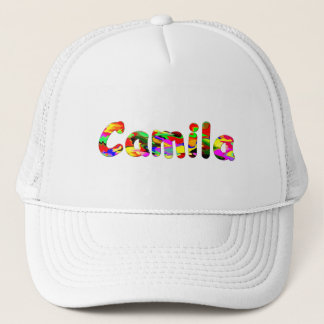 White mesh cap for Camila