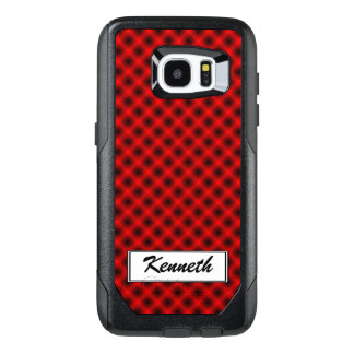 White Mesh Moire (Tintable) by Kenneth Yoncich OtterBox Samsung Galaxy S7 Edge Case