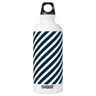 White & Midnight Blue Diagonal Candy Cane  Stripes SIGG Traveler 0.6L Water Bottle