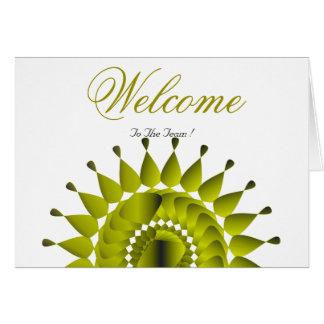 White Minimal Lotus Welcome Wishing Card
