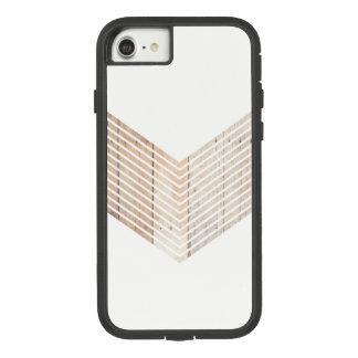 White Minimalist chevron with Wood Case-Mate Tough Extreme iPhone 8/7 Case
