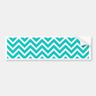 white mint white zig zag pattern design bumper sticker