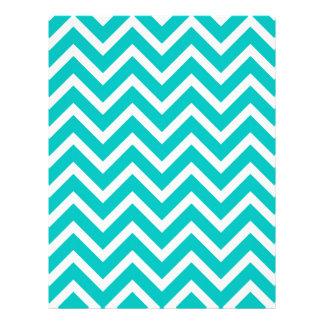 white mint white zig zag pattern design custom letterhead