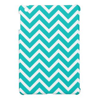 white mint white zig zag pattern design iPad mini case